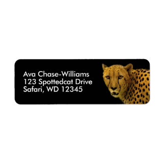 Trading Glances with a Magnificent Cheetah Return Address Label