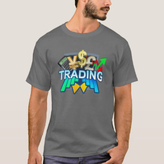 Trading Men's grey T-shirt