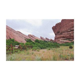 Trading Post Trail Rock Landmarks Canvas Print