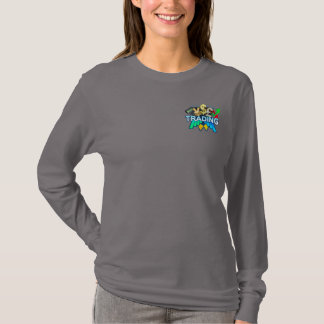 Trading Women's grey Long sleeve T-Shirt