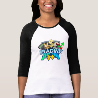 Trading Women's white/black Raglan T-shirt