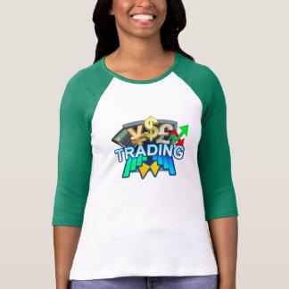 Trading Women's white/green Raglan T-shirt