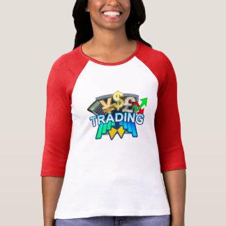 Trading Women's white/red Raglan T-shirt