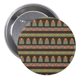 Traditional African Tribal Pottery Pattern 7.5 Cm Round Badge