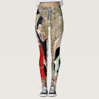 Traditional Ancient Chinese Art Custom Leggings