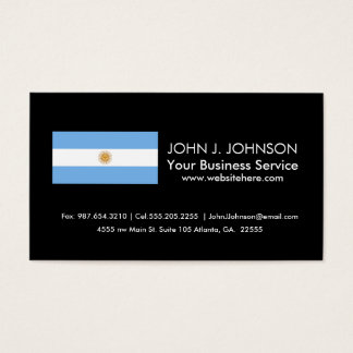 Traditional Argentina Flag Business Card