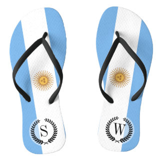 Traditional Argentina Flag Thongs
