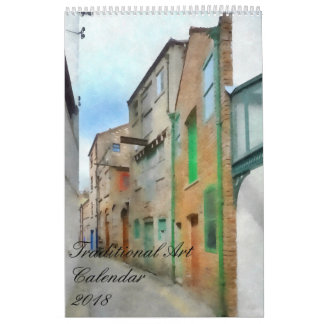 Traditional Art Calendar 2018