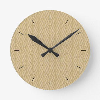 Traditional bamboo round clock