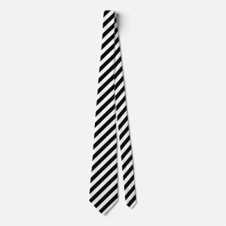 Traditional Black and White Striped Men's Tie
