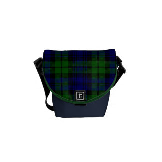 Traditional Black Watch Tartan Plaid Courier Bags