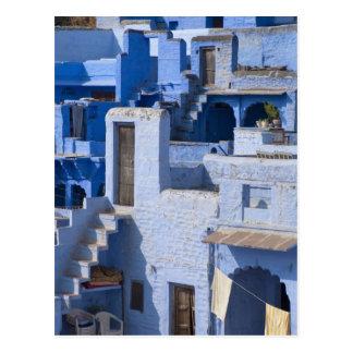 Traditional blue painted house Jodphur Postcard