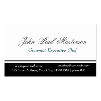 Traditional Border Sharp Black White Design Pack Of Standard Business Cards