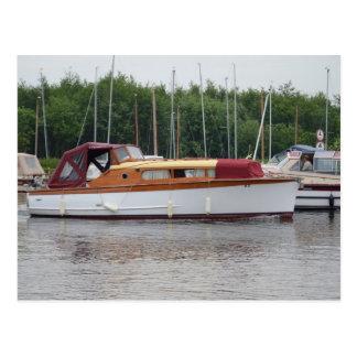 Traditional Broads Cruiser Postcard