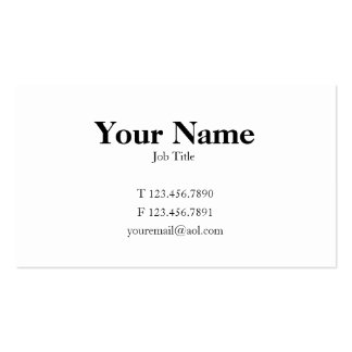Traditional Card Business Cards