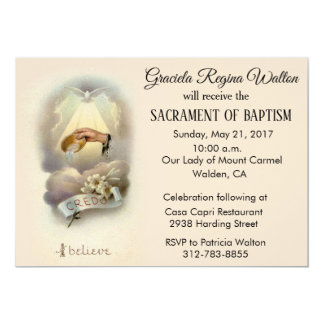 Traditional Catholic Infant Baptism Invitations