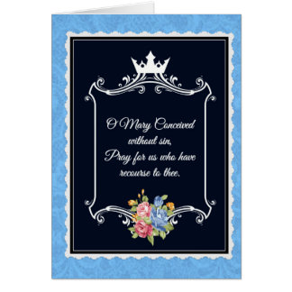 Traditional Catholic Virgin Mary Note Prayer Card
