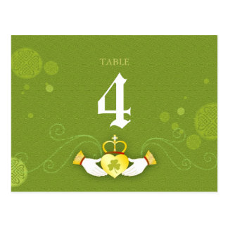 Traditional Celtic Theme Wedding Table Number Card