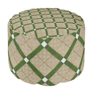 Traditional Ceramic Tiles Pattern Pouf