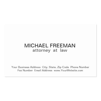 Traditional Chic White Attorney Business Card