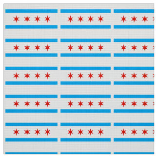Traditional Chicago flag Fabric