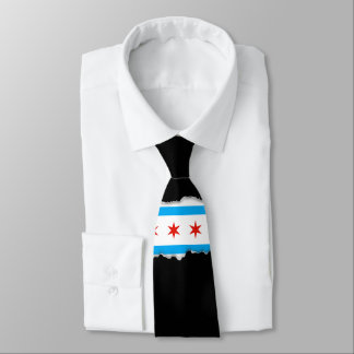 Traditional Chicago flag Tie