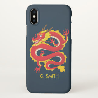 Traditional Chinese Dragon. Add Your Name. iPhone X Case