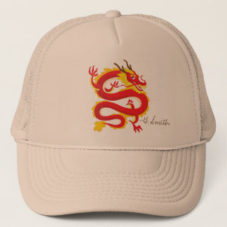Traditional Chinese Dragon. Add Your Name. Trucker Hat