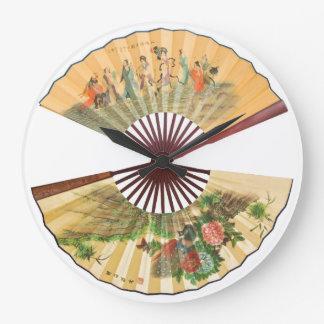 Traditional Chinese fans Large Clock