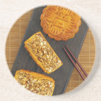 Traditional Chinese mixed nut moon cake Coasters