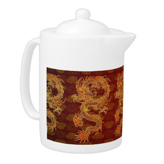 Traditional Chinese Red Dragon
