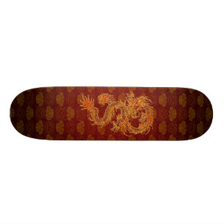 Traditional Chinese Red Dragon 20 Cm Skateboard Deck