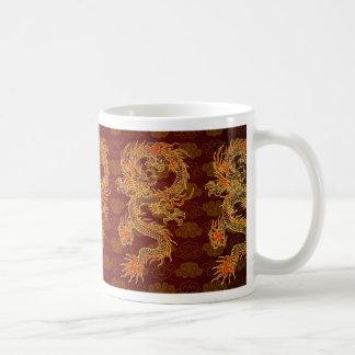 Traditional Chinese Red Dragon Basic White Mug