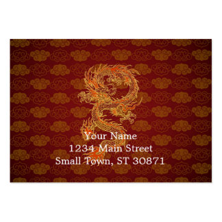 Traditional Chinese Red Dragon Large Business Cards (Pack Of 100)