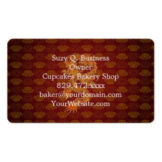 Traditional Chinese Red Dragon Double-Sided Standard Business Cards (Pack Of 100)
