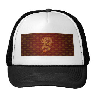 Traditional Chinese Red Dragon Trucker Hat