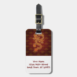 Traditional Chinese Red Dragon Travel Bag Tag