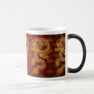 Traditional Chinese Red Dragon 11 Oz Magic Heat Color-Changing Coffee Mug