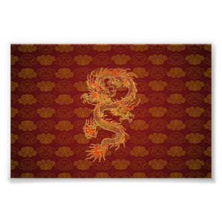 Traditional Chinese Red Dragon Photograph