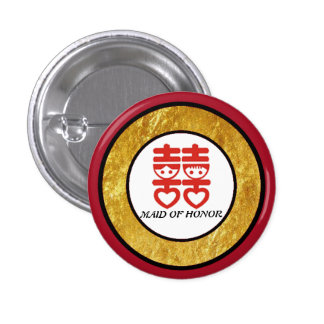 Traditional Chinese Wedding Flair 3 Cm Round Badge