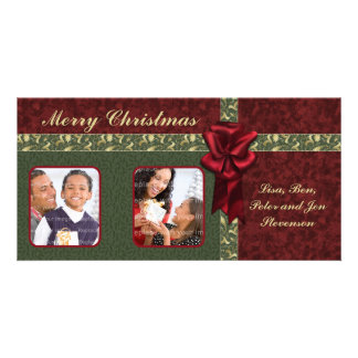Traditional Christmas Design Customised Photo Card