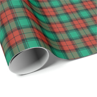 Traditional Christmas Plaid Bright Red and Green Wrapping Paper