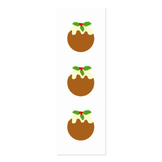 Traditional Christmas Pudding. On White. Business Card
