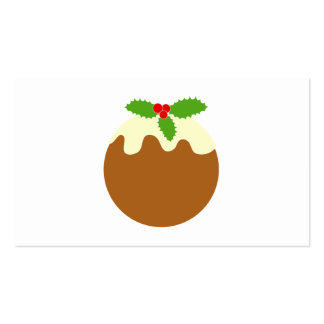 Traditional Christmas Pudding. On White. Business Card Templates