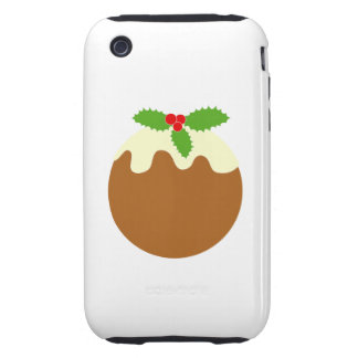 Traditional Christmas Pudding. On White. iPhone 3 Tough Case