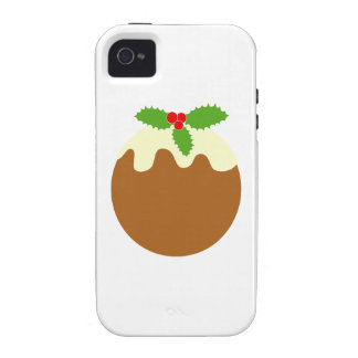 Traditional Christmas Pudding. On White. Case-Mate iPhone 4 Cases