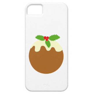 Traditional Christmas Pudding. On White. iPhone 5 Case
