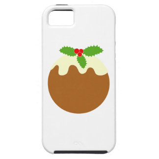 Traditional Christmas Pudding. On White. iPhone 5 Covers