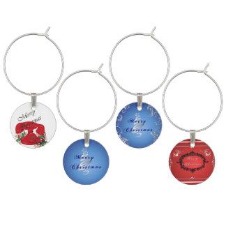 Traditional Christmas Wine Glass Charms