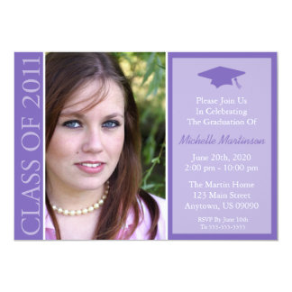 Traditional Class Of 2011 Graduation (Purple) Card